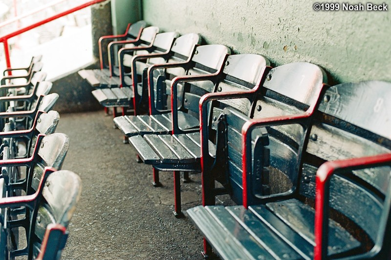 September 2, 1999: The back row of seats in our section, empty before the game starts.