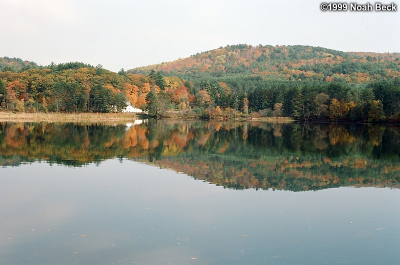 October 17, 1999: Farmhouse overlooking a reservoir above a dam